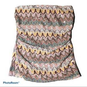 Express Geometric/Sequin Tube Top Size Small